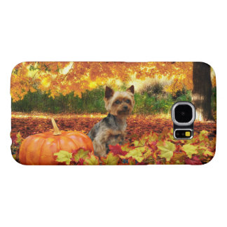 Fall Thanksgiving - Tucker - Yorkie Samsung Galaxy S6 Cases