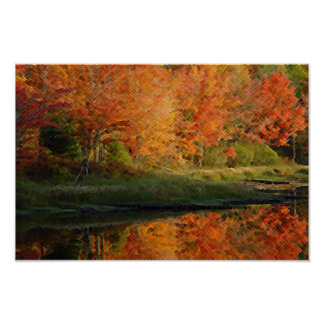 Fall & the river  poster