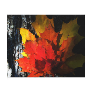 Fall-Themed Canvas Print - Maple Leaves