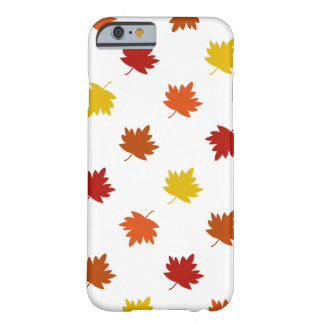 Fall-Themed Case - Polka Maple Leaves, White