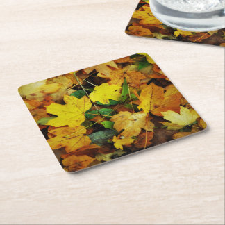 Fall-Themed Coasters - Golden Leaves