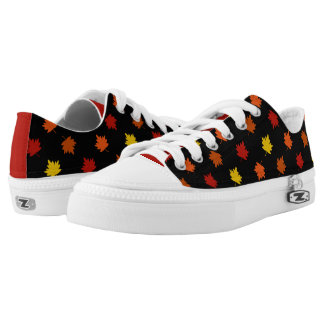 Fall-Themed Shoes - Polka Maple Leaves