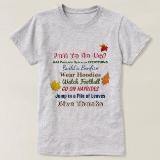 Fall To Do List Women's T-Shirt