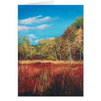 Fall Trail Acrylic Painting | Greeting Cards