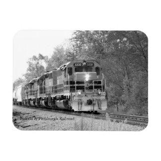 Fall Train B&W Magnet