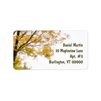 Fall Tree Address Label, Large Address Label