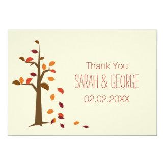 fall tree, autumn wedding Thank You cards 13 Cm X 18 Cm Invitation Card