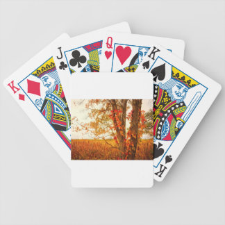 Fall Tree Great Meadows National Wildlife Refuge Bicycle Playing Cards