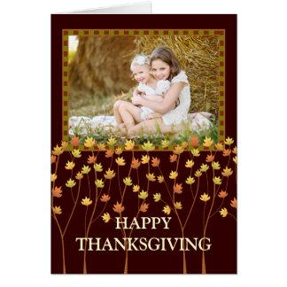 Fall Tree Happy Thanksgiving Photo Greeting Card