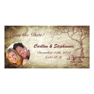 Fall Tree Photo Announcement Wedding Photo Card