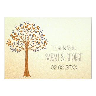 fall tree, Rustic Fall Wedding Thank You cards 13 Cm X 18 Cm Invitation Card