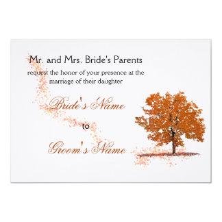 Fall tree Wedding-rust Card