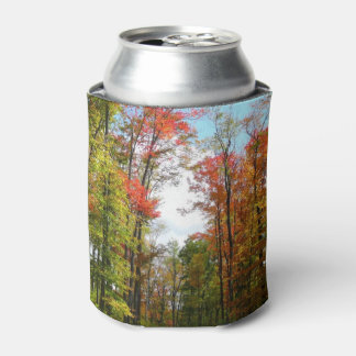 Fall Trees and Blue Sky Autumn Nature Photography Can Cooler