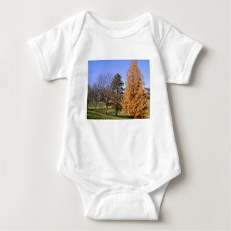 Fall Trees Baby Bodysuit