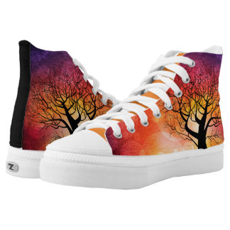 Fall Trees High Tops