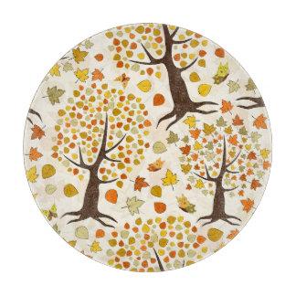 Fall Trees Print Pattern Cutting Board
