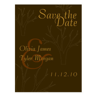 Fall Trees Save the Date Postcard