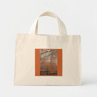 Fall trees, split rail fence bag