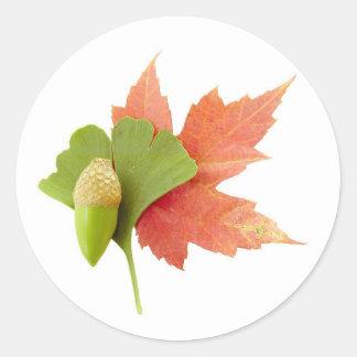 Fall Trio Classic Round Sticker