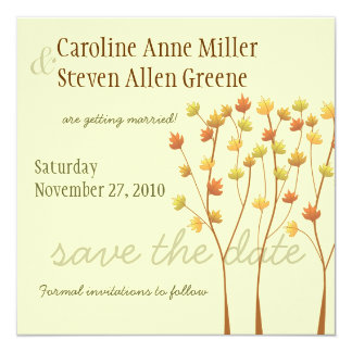 Fall Twig Tree - Save the Date Card