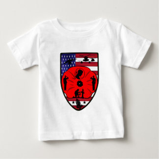 fall US of heroes patch Baby T-Shirt