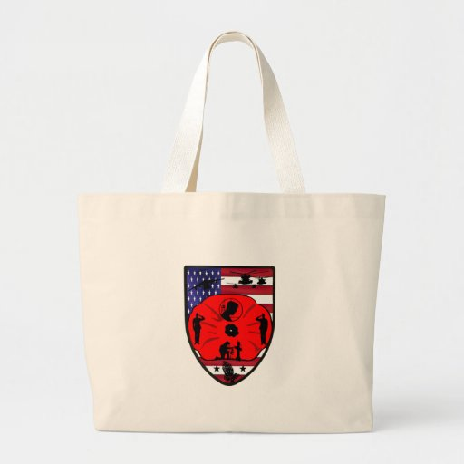 fall US of heroes patch Tote Bags