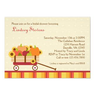 Fall Wagon Bridal Shower Invitation