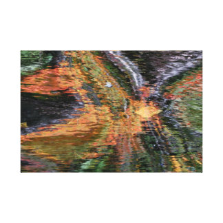 Fall Water Reflections Canvas Print