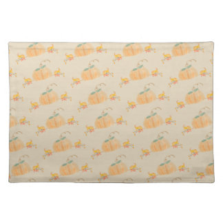 Fall Watercolor Pumpkin Cloth Placemat