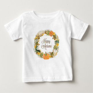 fall watercolor wreath baby T-Shirt