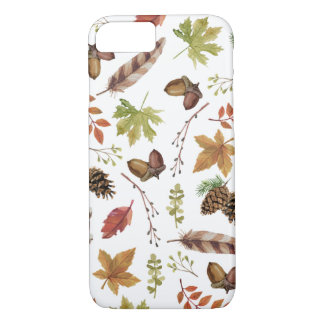 fall watercolor wreath iPhone 8/7 case