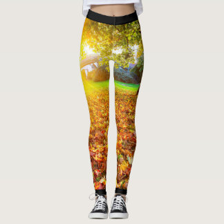 Fall Weather Leaves (Autumn) Leggings