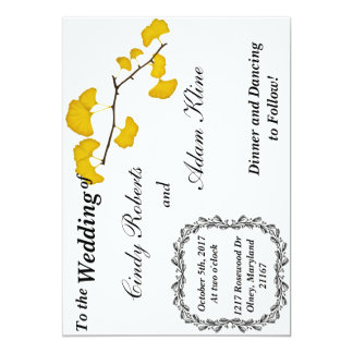 Fall Wedding Card