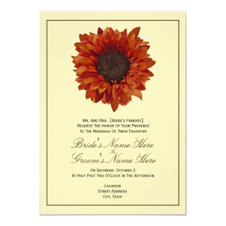 Fall Wedding Invitation - From Bride's Parents