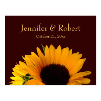 Fall Wedding RSVP Postcard