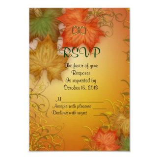 Fall Wedding RSVP response card 9 Cm X 13 Cm Invitation Card