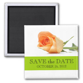 Fall Wedding Save the Date Magnets Orange Rose Magnet