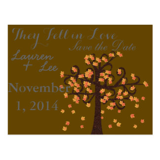 Fall Wedding/ Save the Date Postcard