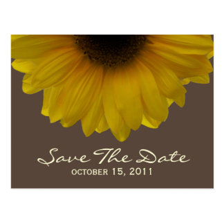 Fall Wedding Sunflower Save The Date Postcard