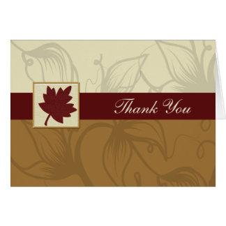 fall wedding Thank You Greeting Card