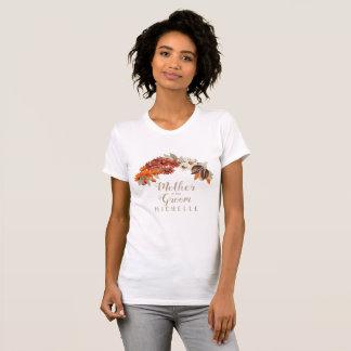 Fall Wedding Wreath Orange Mother of the Grm ID465 T-Shirt