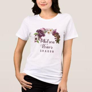 Fall Wedding Wreath Plum Maid of Honour ID465 T-Shirt