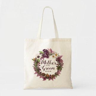 Fall Wedding Wreath Plum Mother of Groom ID465 Tote Bag