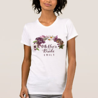 Fall Wedding Wreath Plum Mother of the Bride ID465 T-Shirt