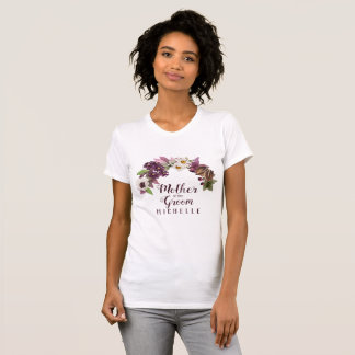 Fall Wedding Wreath Plum Mother of the Groom ID465 T-Shirt