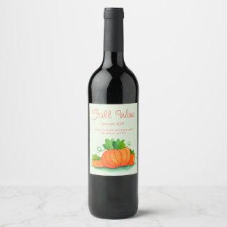 Fall Wine Label