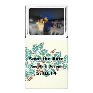 Fall Winter Wedding Save the Date Custom Add Photo Custom Photo Card
