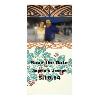 Fall Winter Wedding Save the Date Custom Add Photo Photo Cards