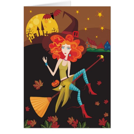 Fall Witch Card