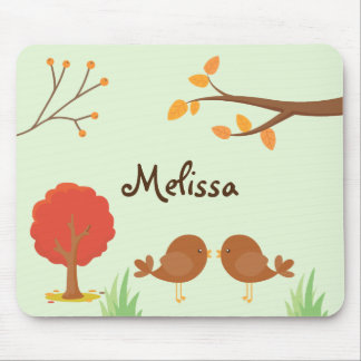 Fall Woodland Animal Delight Mouse Pad